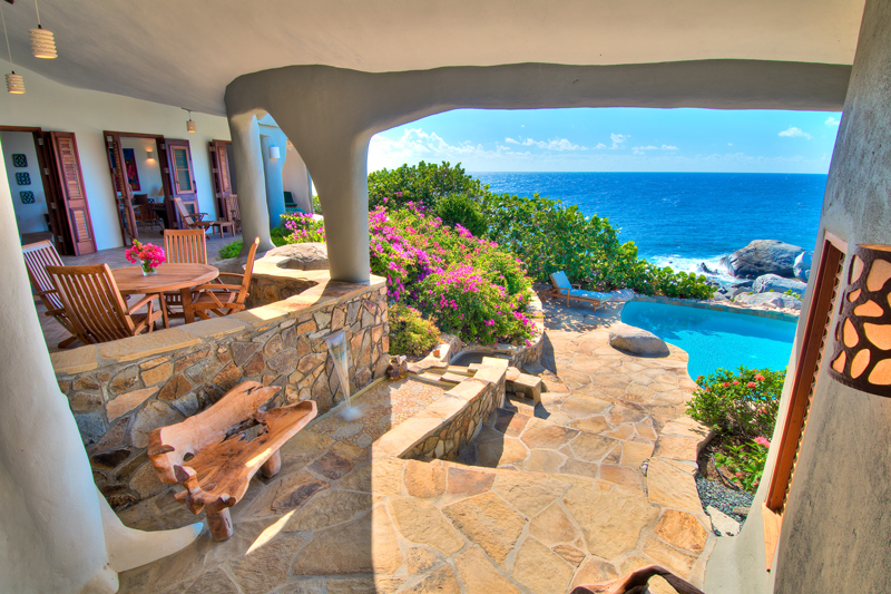 Caribbean View from Luxury Home